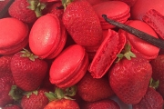 Strawberry Macarons - Cavallaros