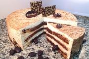 Tiramisu Cake Cut - Cavallaros